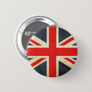 Badge Rond 5 Cm Rétro drapeau britannique d'Union Jack bouton rond