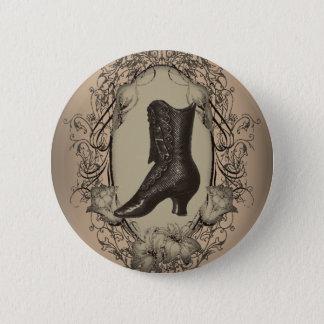 Badge Rond 5 Cm Rétro fashionista de chaussure victorienne vintage