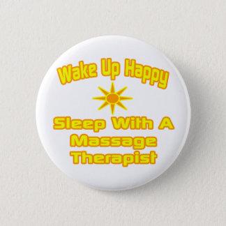 Badge Rond 5 Cm Réveillez… le sommeil heureux avec le thérapeute