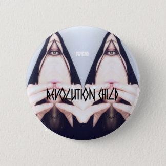 Badge Rond 5 Cm Révolution Child, Psycho'bouton goupille