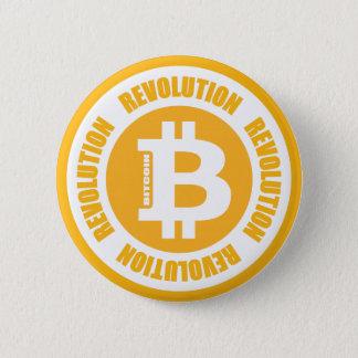 Badge Rond 5 Cm Révolution de Bitcoin (version anglaise)