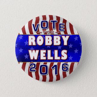 Badge Rond 5 Cm Robby jaillit président l'élection 2016 Démocrate