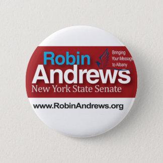 Badge Rond 5 Cm Robin Andrews pour le sénat d'État de New York
