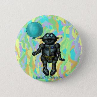 Badge Rond 5 Cm Robot mignon drôle avec la conception de bouton de