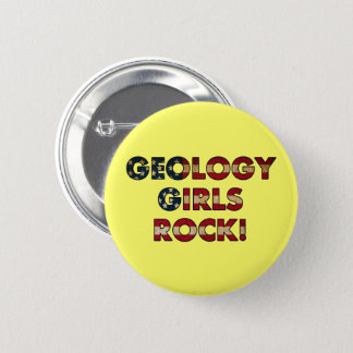Badge Rond 5 Cm Roche de filles de géologie ! (Drapeau des