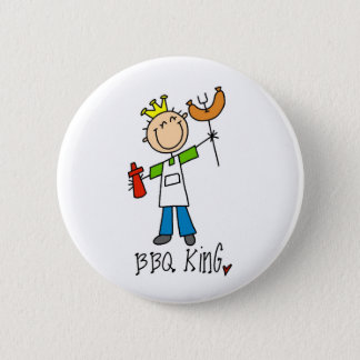 Badge Rond 5 Cm Roi de BBQ
