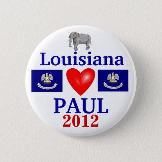 Badge Rond 5 Cm Ron Paul Louisiane 2012
