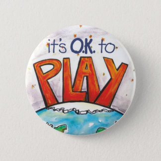 Badge Rond 5 Cm Rond il est CORRECT de jouer l'autocollant