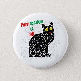 Badge Rond 5 Cm Ronronnement-fection de chat de la neige 30