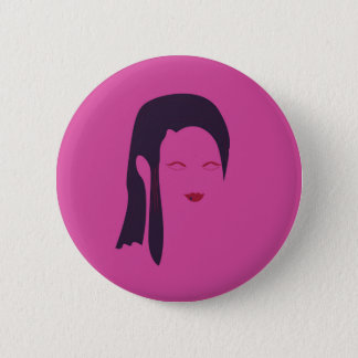 Badge Rond 5 Cm Rose ethnique de geisha de conception