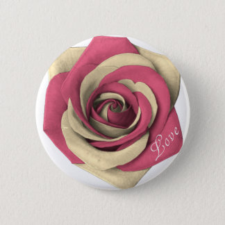 Badge Rond 5 Cm Rose rose