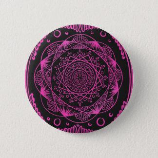 Badge Rond 5 Cm Roses indien, réveillant le motif de zen,