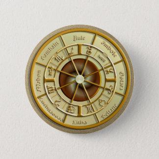 Badge Rond 5 Cm Roue de Wiccan de l'année