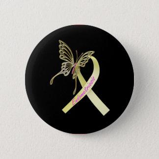 Badge Rond 5 Cm Ruban d'endométriose
