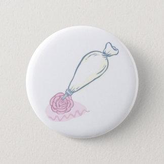 Badge Rond 5 Cm Sac de rose et de pâtisserie de rose