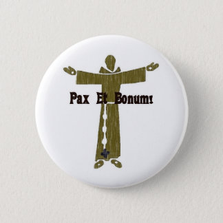 Badge Rond 5 Cm Salutations franciscaines