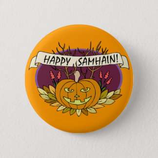 Badge Rond 5 Cm Samhain heureux