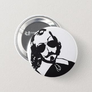 Badge Rond 5 Cm Samuel de Champlain Hipster lunettes futur Québec