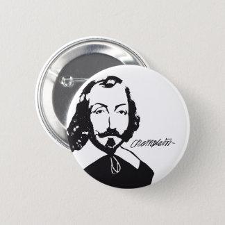 Badge Rond 5 Cm Samuel de Champlain Hipster rose Québec Français