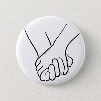 Badge Rond 5 Cm se tenir de mains