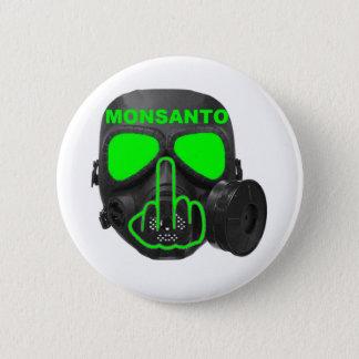 Badge Rond 5 Cm Secousse de masque de gaz de Monsanto de bouton