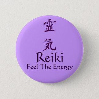Badge Rond 5 Cm Sensation de symbole de Reiki le Pin de bouton