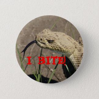 Badge Rond 5 Cm Serpent à sonnettes R0008
