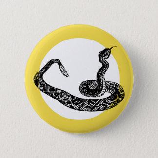 Badge Rond 5 Cm Serpent de hochet