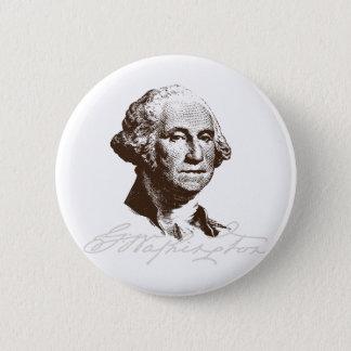 Badge Rond 5 Cm Signature George Washington