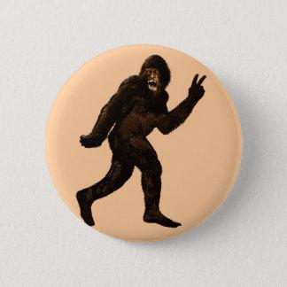 Badge Rond 5 Cm Signe de paix de Bigfoot