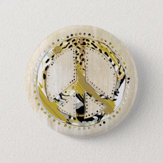 Badge Rond 5 Cm Signe de paix de poster de animal I + votre