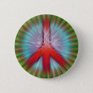 Badge Rond 5 Cm Signe de paix de Starburst