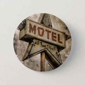Badge Rond 5 Cm Signe grunge vintage de motel d'étoile