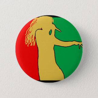 Badge Rond 5 Cm Silhouette de chanteur de Rasta