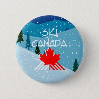 Badge Rond 5 Cm Ski SUPÉRIEUR Canada