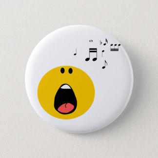 Badge Rond 5 Cm Smiley chantant son peu de coeur