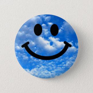 Badge Rond 5 Cm Smiley de ciel