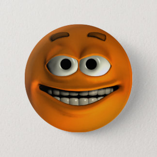 Badge Rond 5 Cm Smiley orange