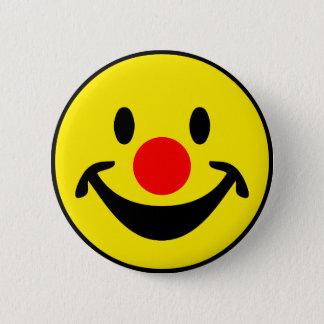 Badge Rond 5 Cm Smiley rouge de nez - jaune + vos idées