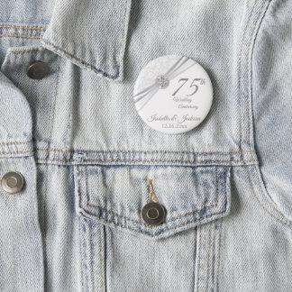 Badge Rond 5 Cm soixantième/soixante-quinzième conception