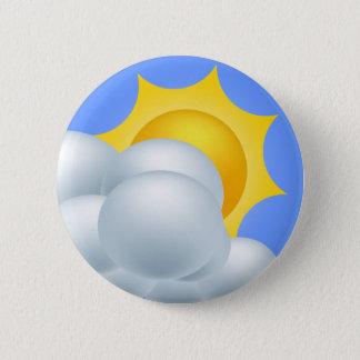 Badge Rond 5 Cm Soleil