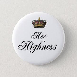 Badge Rond 5 Cm Son altesse (une partie du sien et du sien a