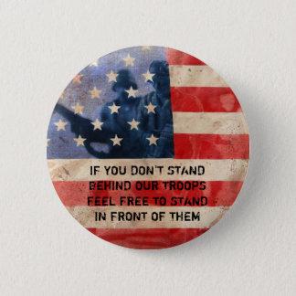 Badge Rond 5 Cm Soutenez les troupes