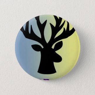 Badge Rond 5 Cm Soyez ombre courageuse de tête de cerfs communs