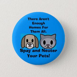 Badge Rond 5 Cm Stérilisez et changez vos animaux familiers