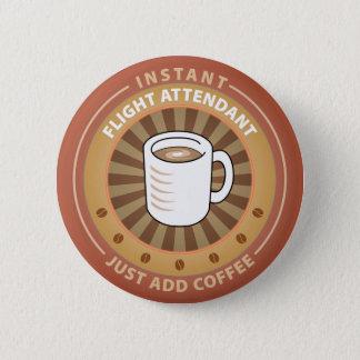 Badge Rond 5 Cm Steward (hôtesse de l'air) instantané