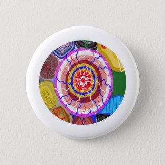 Badge Rond 5 Cm Surya Chakra - énergie de source de Sun