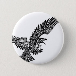 Badge Rond 5 Cm Swooping d'oiseau d'Eagle