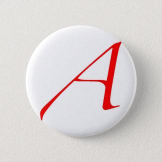 Badge Rond 5 Cm Symbole athée (rouge A)
