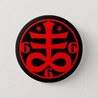 Badge Rond 5 Cm Symbole croisé satanique occulte de Goth